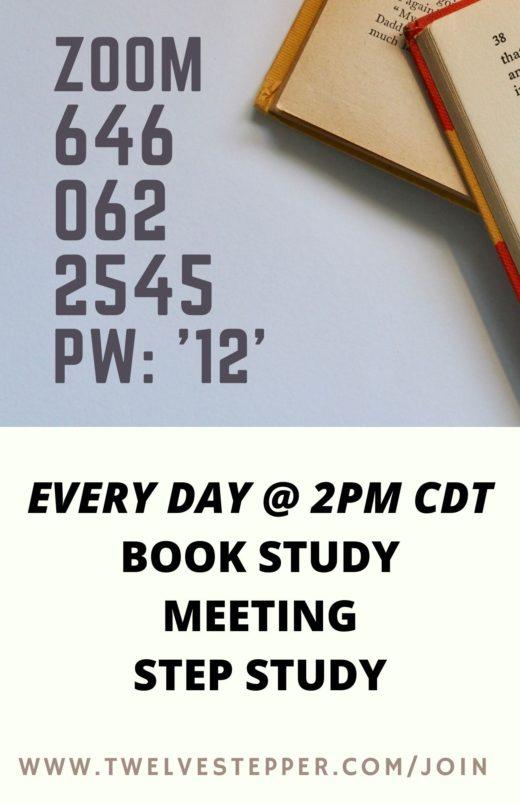 TwelveStepper Zoom Schedule